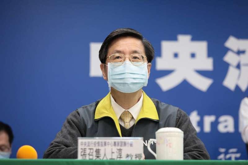 針對新冠肺炎可能出現的症狀,指揮中心專家諮詢小組召集人張上淳表示,台灣沒有確診個案反應眼睛不適,眼睛本身的病變或發炎現象非觀察重點。(資料照,指揮中心提供)