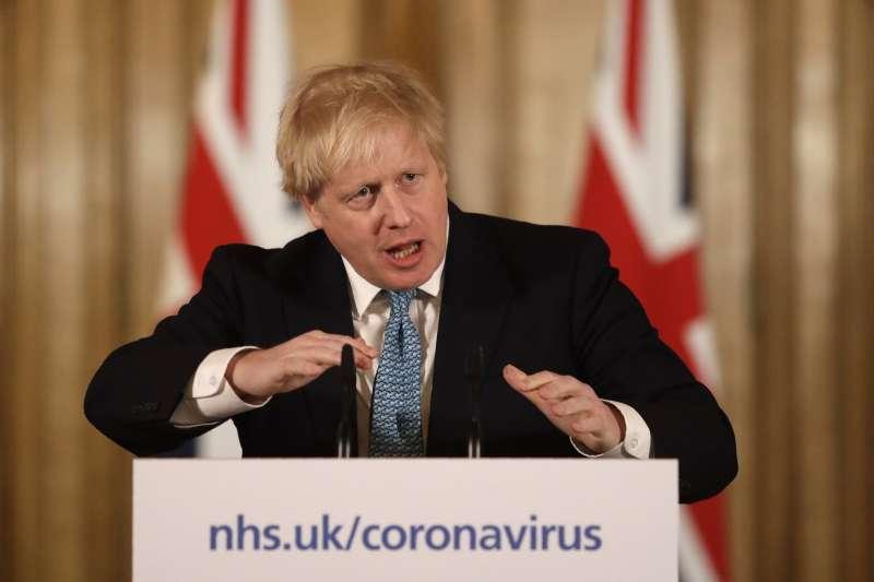 英國首相強森3月27日確診感染新冠肺炎(武漢肺炎),4月5日住院治療(AP)