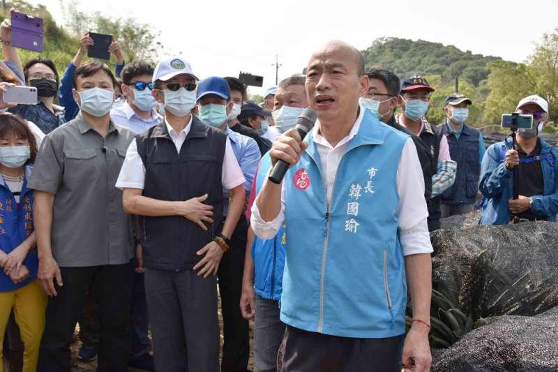 高雄市長韓國瑜(見圖)18日證實在1個星期前同意出任國民黨中常委,希望當南部人的意見橋梁,將在地的聲音傳達給黨中央。(資料照,高雄市政府提供)