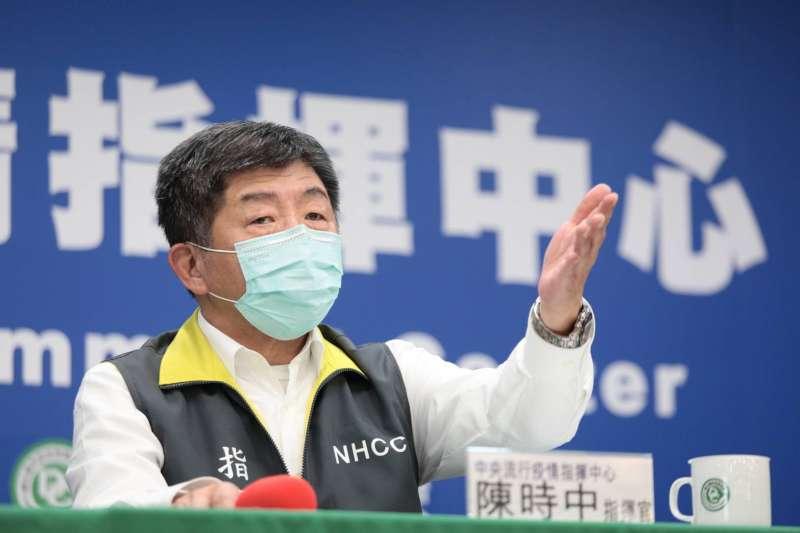 中央流行疫情指揮中心金(10)日召開記者會,指揮官陳時中(見圖)表示,今新增1死亡及2例境外移入個案。(資料照,指揮中心提供)