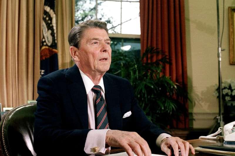 危機中的美國領導人,雷根(Ronald Reagan)總統,1986年(AP)