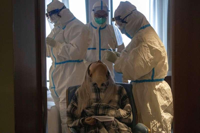 武漢肺炎去年12月底在武漢爆發。(AP)