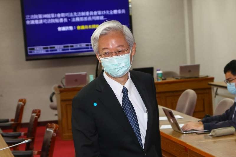 20200413-司法院秘書長林輝煌13日出席立院委員會。(顏麟宇攝)