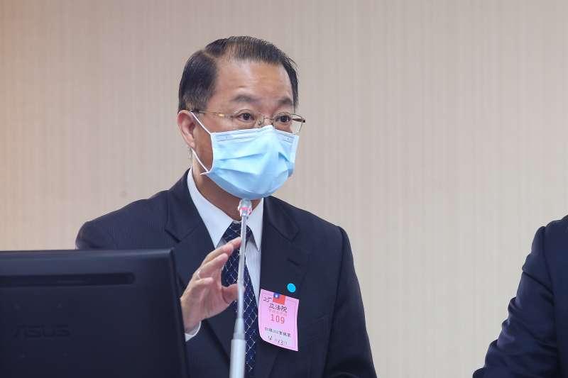 20200413-刑事局長黃明昭13日於內政委員會備詢。(顏麟宇攝)
