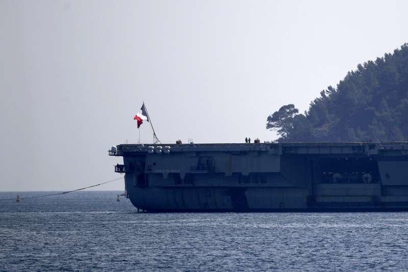 法國「戴高樂號」航母。(美聯社)