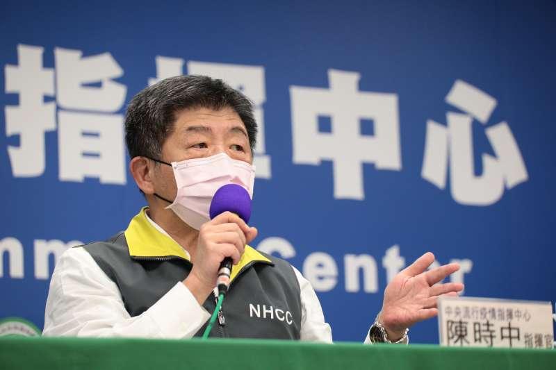 中央流行疫情中心指揮官陳時中(見圖)15日宣布,台灣新增2例新冠肺炎確診病例。(資料照,中央流行疫情指揮中心提供)