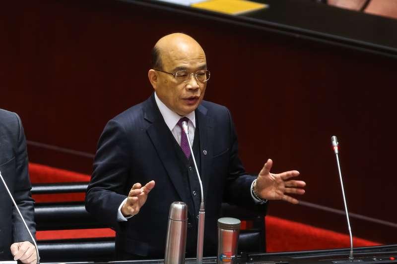 20200414-行政院長蘇貞昌14日於立院備詢。(顏麟宇攝)