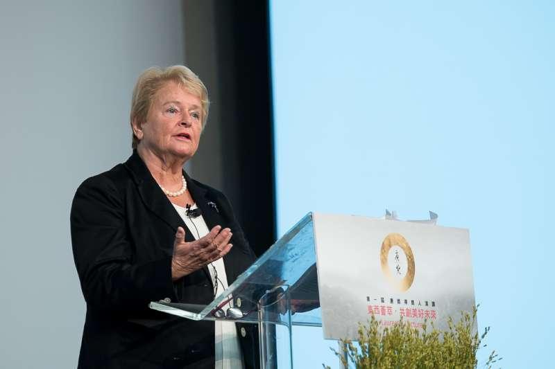 世界衛生組織(WHO)前祕書長、唐奬得主格羅‧哈萊姆‧布倫特蘭呼籲各國領袖攜手合作,應變COVID-19大流行。(唐獎教育基金會提供)