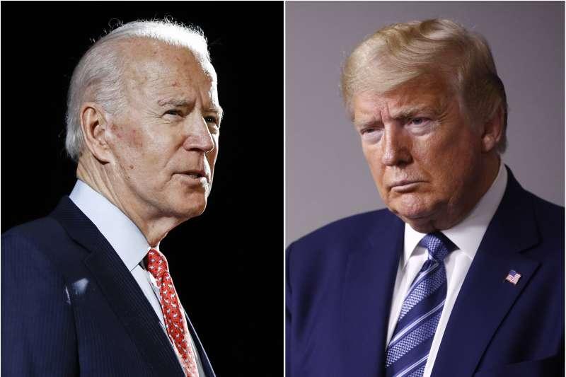 2020年美國總統大選,前副總統拜登(左)將對決現任總統川普(右)。假如100多天以後拜登當選,美國的政策會發生什麼變化?這是一個值得台灣相關單位的領袖與國際關係界都要好好思考的問題,並且尋找各種可能發生狀況下的對策。(資料照,AP)