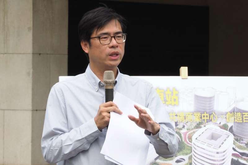 應是民進黨光復高雄一役主帥的陳其邁,對罷韓議題目前低調沒動作。(林瑞慶攝)