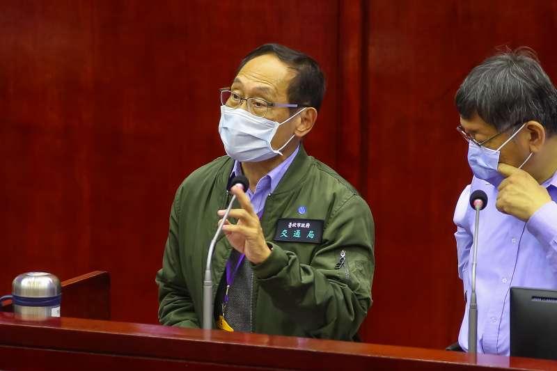 20200417-台北市交通局長陳學台17日於市議會備詢。(顏麟宇攝)