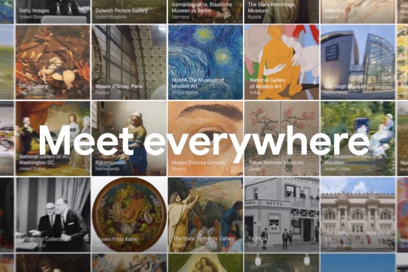 Google推出的Arts&Culture應用程式,讓民眾在行動裝置上,就能欣賞來自世界各地的館藏。(擷取自Google Art&Culture網站)