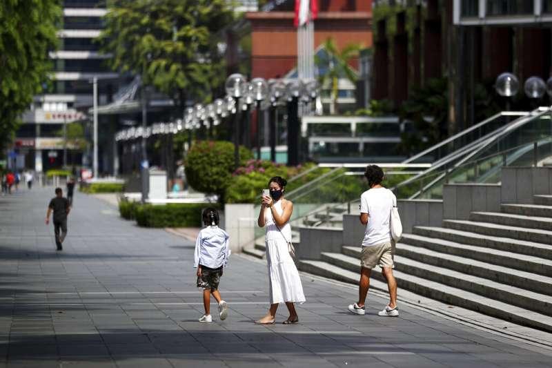 新加坡受到新冠肺炎(武漢肺炎)衝擊。(AP)