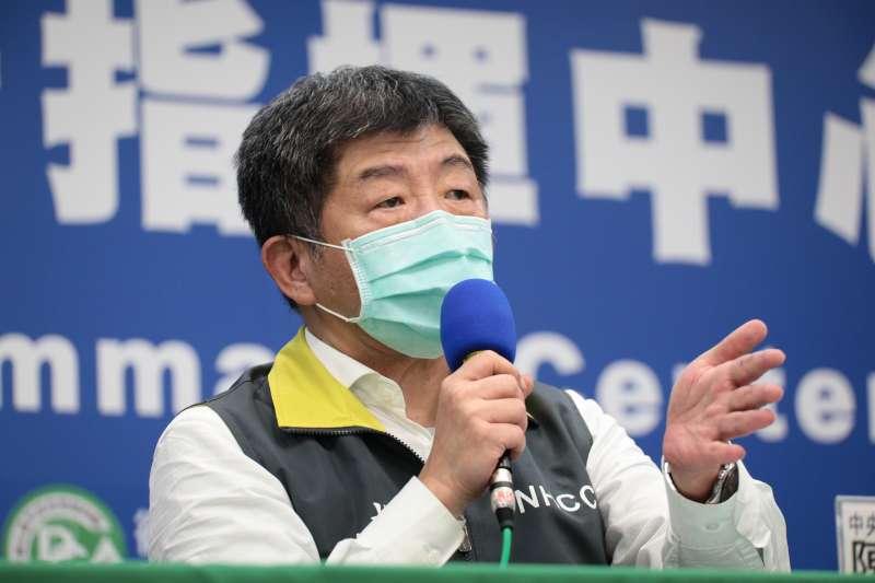 中央流行疫情指揮中心今(21)日舉行記者會,指揮官陳時中(見圖)發言。(資料照,指揮中心提供)