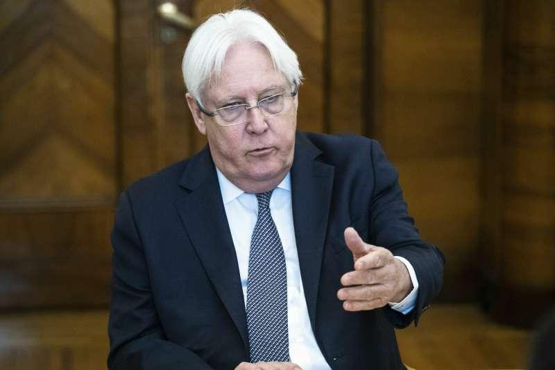 葉門內戰經年,聯合國葉門事務特使葛瑞菲斯(Martin Griffiths)極力調停(AP)