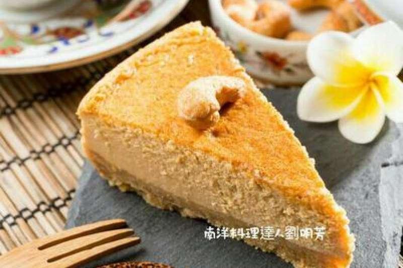 用椰糖做起士蛋糕,甜而不膩(圖/劉明芳 提供)