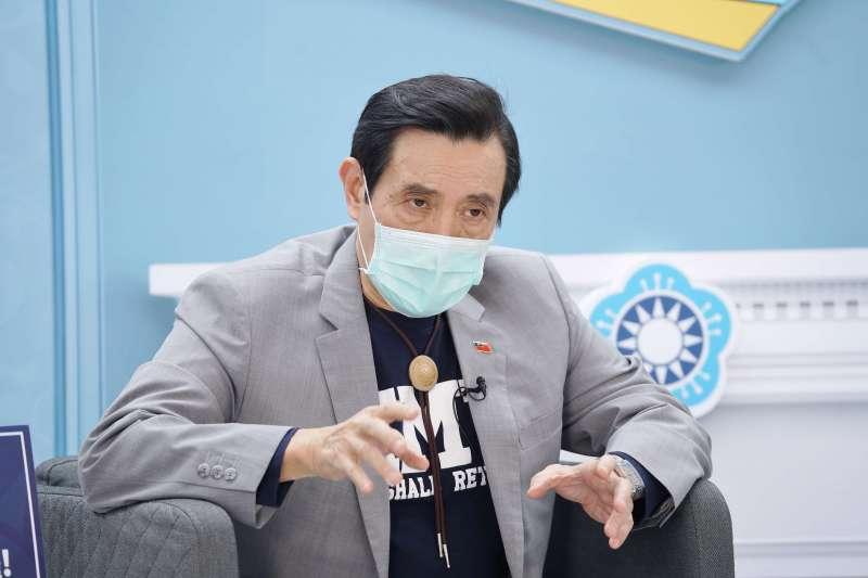 20200421-國民黨革實院21日舉行「未來沙龍」直播活動,前總統馬英九出席。(盧逸峰攝)