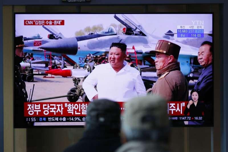 北韓領導人金正恩命危的消息在南韓引發高度關注。(美聯社)