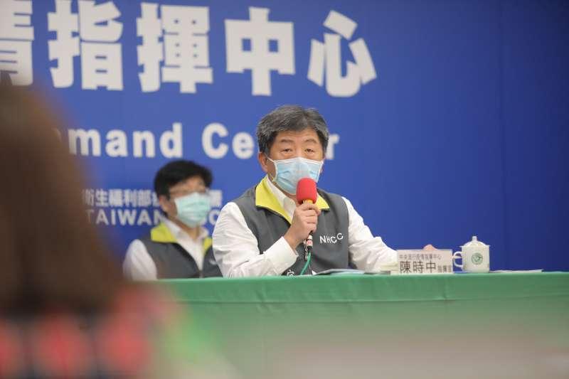 行政院長蘇貞昌要高雄市長韓國瑜防疫以指揮中心為主;資深媒體人趙少康對此開炮,「都聽指揮中心的就完蛋了。」圖為指揮中心指揮官陳時中。(資料照,指揮中心提供)