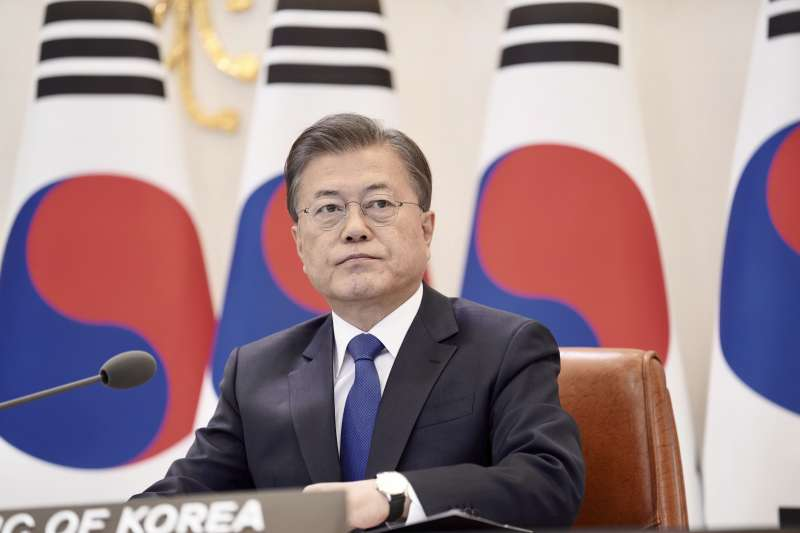 南韓總統文在寅。(AP)