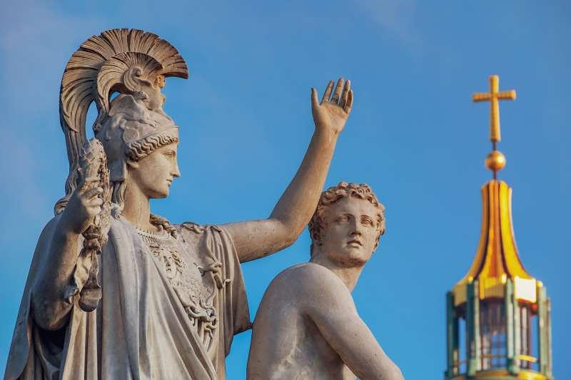 希臘、雕像、女神、雕塑、石像、希臘神話(圖/pixabay)