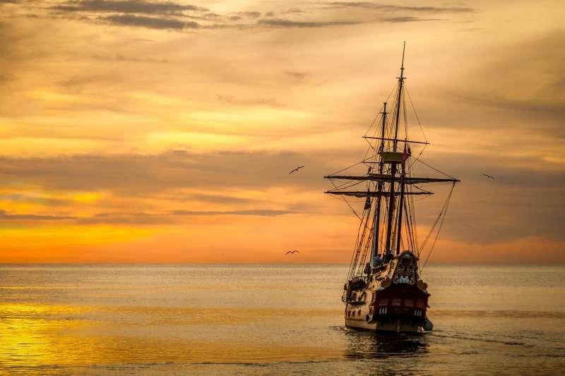 激進市場、貿易、帆船、海洋、木船、航海(圖/pixabay)