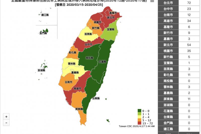 台東縣不僅至今零確診,且從今(27)日起隔離人數也歸零。(取自衛福部「傳染病統計資料查詢系統」)