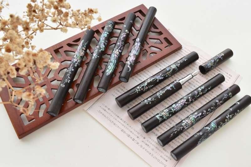 細緻瑰麗的「虹光螺鈿」是源自幾乎失傳的中國傳統手工技藝,一上市便成各界矚目的焦點。(圖/快木文創提供)
