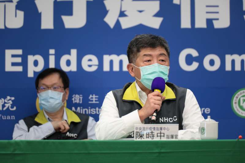 中央流行疫情指揮中心指揮官陳時中呼籲捐口罩。(中央流行疫情指揮中心提供)