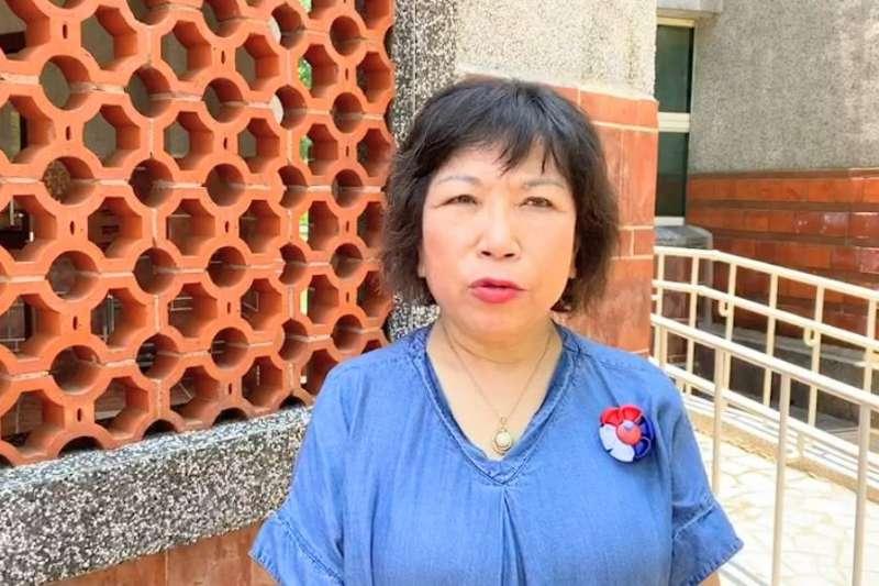 國民黨立委葉毓蘭30日受訪談鐵路殺警案。(葉辦提供)