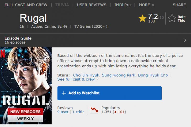 第七名《Rugal:無淚交鋒》(圖/擷取自IMDb)
