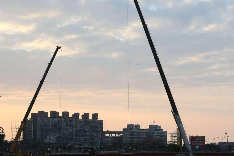 新北市520檔單一案量最大的建案在淡海新市鎮。(柯承惠攝)