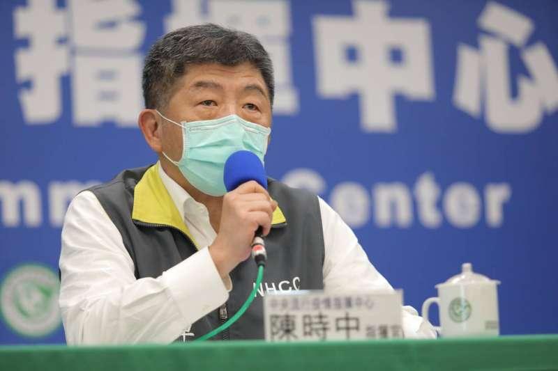 中央流行疫情指揮中心2日召開記者會,宣布國內新增3例確診個案。圖為指揮官陳時中。(資料照,中央流行疫情指揮中心提供)