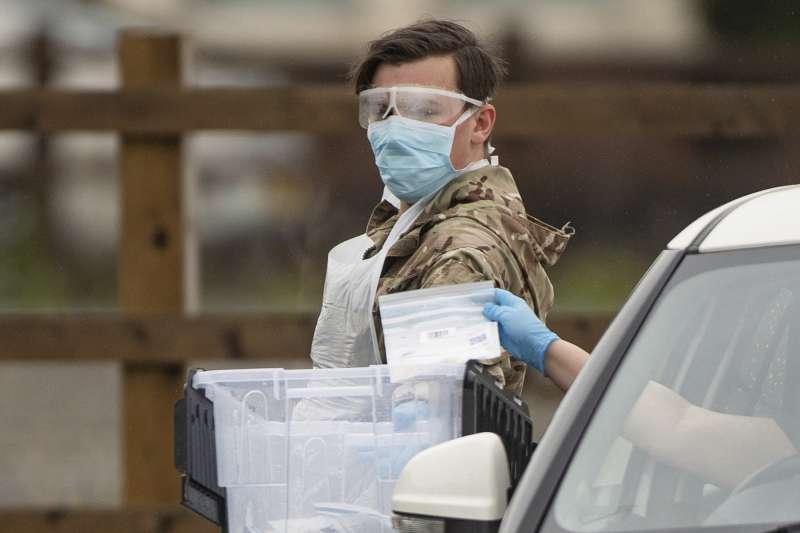 2020年,新冠肺炎疫情重創英國(AP)