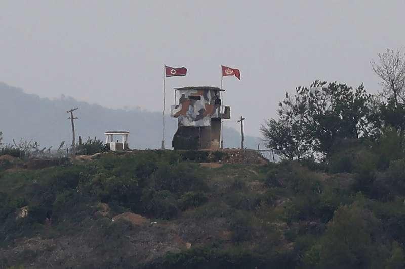 南北韓非軍事區(DMZ)的北韓據點,坡州市(AP)