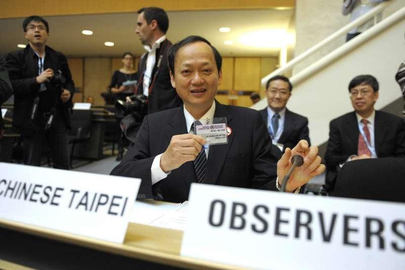 2009年,我國以「中華台北」為名的觀察員身分參加世界衛生大會(WHA),圖為代表出席的我國時任衛生署長葉金川(資料照,AP)