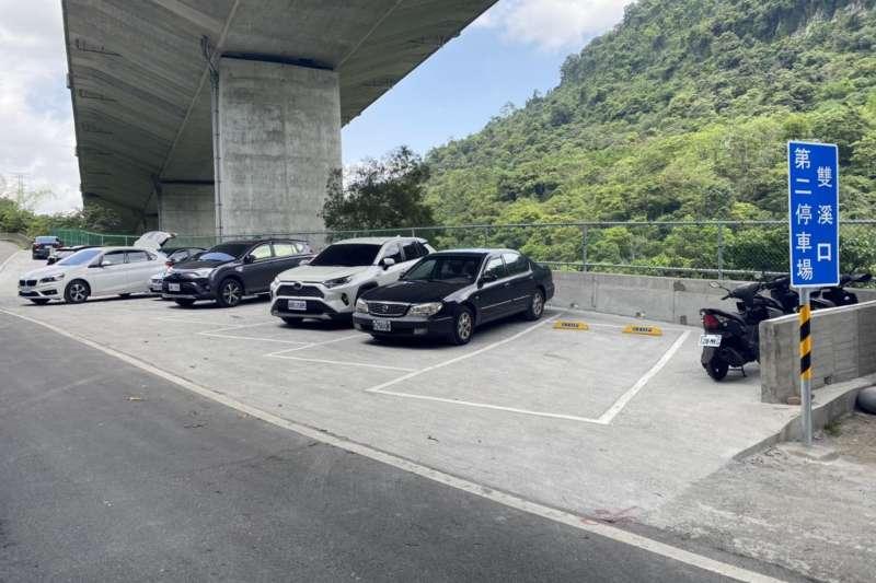 石碇增建兩個停車場合計可提供約60個提供遊客更充足的停車空間。(圖/新北市石碇區公所提供)
