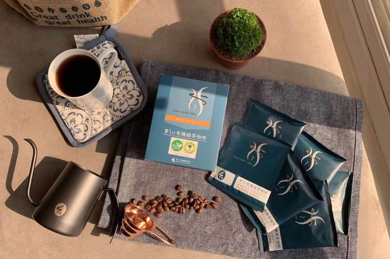 享So推出有機綠茶咖啡濾掛包,飲食控制者也能安心喝(圖/享So)