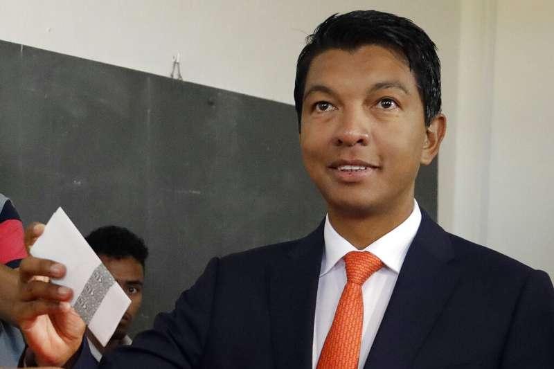 馬達加斯加總統拉喬利納。(美聯社)