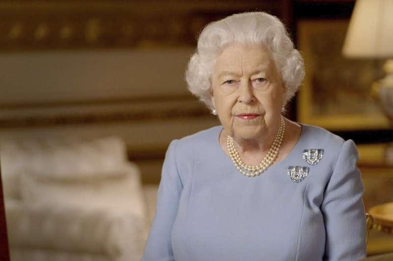2020年5月8日,英國女王伊麗莎白二世對全國發表演說,紀念第二次世界大戰歐洲勝利75周年(AP)