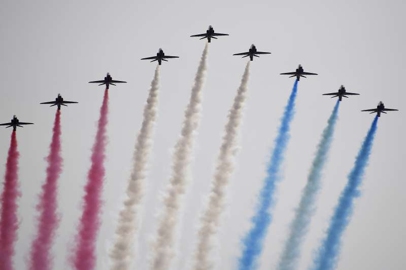 2020年5月8日,第二次世界大戰歐洲勝利75周年,英國新冠肺炎疫情未息,低調慶祝(AP)