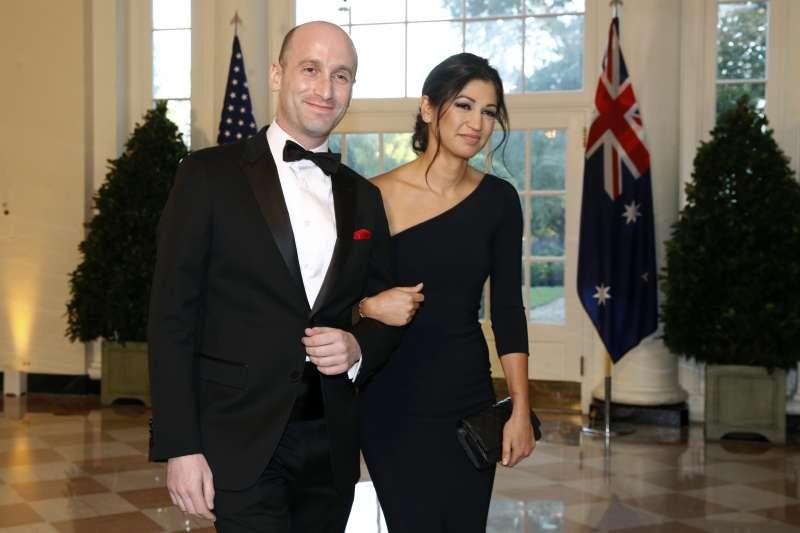 美國總統川普親信史蒂芬.米勒(Stephen Miller)與副總統彭斯新聞秘書米勒(Katie Miller)(AP)