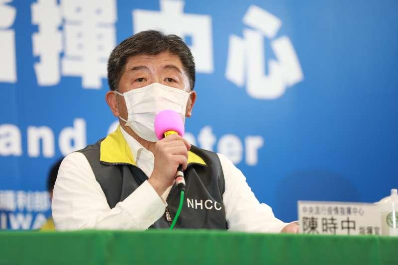 中央流行疫情指揮中心指揮官陳時中(見圖)10日宣布台灣無新增新冠肺炎確診病例。(資料照,中央流行疫情指揮中心提供)
