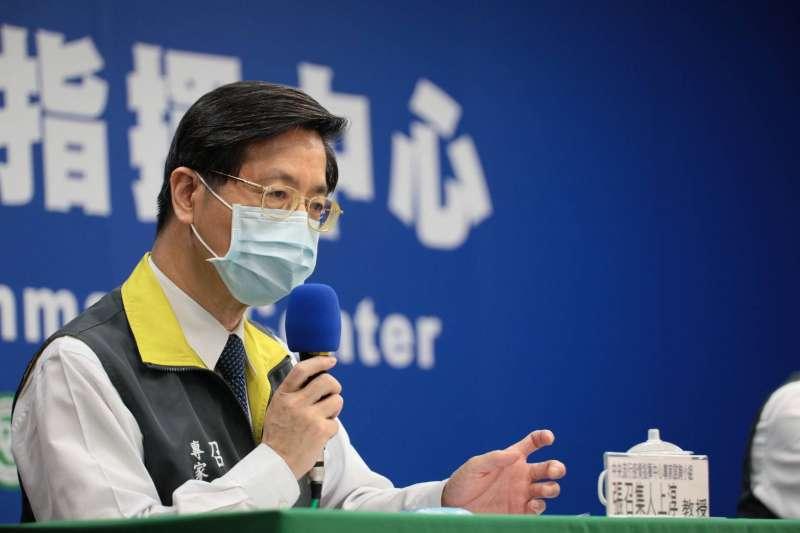 中央流行疫情指揮中心專家諮詢小組召集人張上淳(見圖)指出,案197因多重器官衰竭,不幸於10日病逝。(中央流行疫情指揮中心提供)