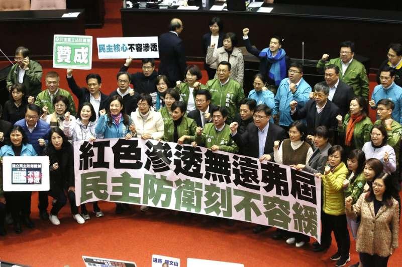 作者認為《反滲透法》的通過、美台軍售案以及香港因素,讓仇中意識持續高漲。(資料照,柯承惠攝)