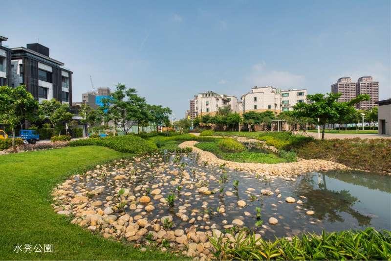 中路重劃區內有風禾公園、水秀公園及向陽公園等綠地景觀。(圖/富比士地產王提供)