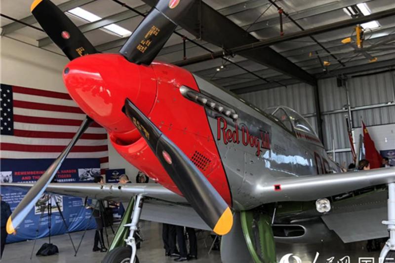 在夏威夷珍珠港太平洋航空博物館展出,二次大戰抗日期間的飛虎隊戰機。(圖片由作者提供)