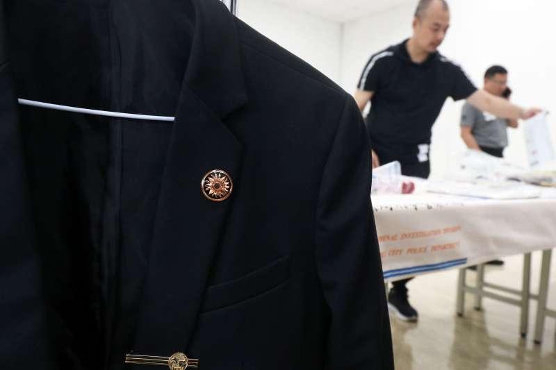20200514-台北市警察局刑警大隊日前破獲,以劉嫌等人為首的「天○盟」幫派集團。圖為幫派徽章。(調查局提供)