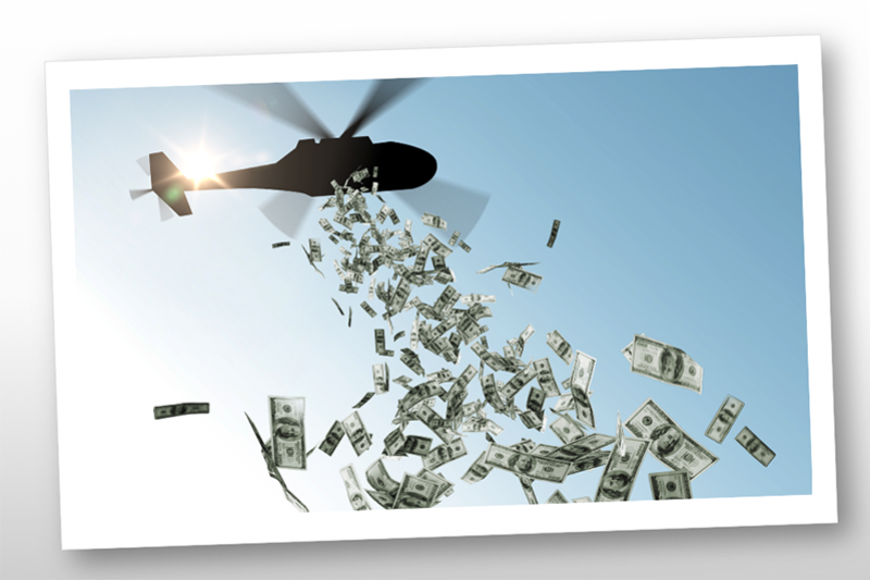 「直升機撒錢」是什麼意思?孩子問,「我可以去下面撿錢嗎?」(圖/作者提供)