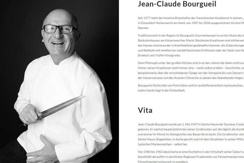 知名法國裔廚師布爾格伊(Jean-Claude Bourgueil)13日在其臉書發文宣布:「本店將於週五重新營業,現階段只開放小餐廳,不歡迎中國人!」(擷取自餐廳ImSchiffchen官網)